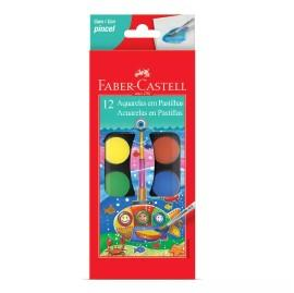 ACUARELAS FABER CASTELL 12 COLORES + PINCEL