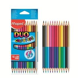 LÁPICES DE COLORES MAPED DUO X 12